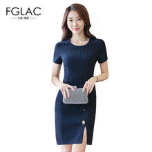 Buy FGLAC Women dress New Arrivals 2017 Fashion Casual summer dress Elegant Slim Work striped dress Plus size women clothing for $21.70 in AliExpress store