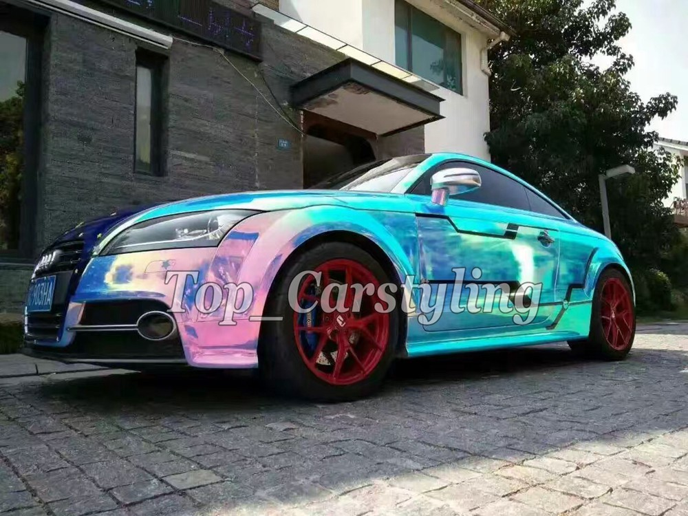 rainbow chameleon chrome high stretch car wrapping film with air bubble free 3m hexis) (3)