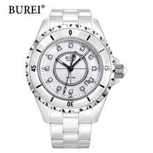 BUREI New Watches Women Top Fashion Brand Female Casual Clock White Sapphire Lens Calendar Waterproof Wristwatches Hot Sale