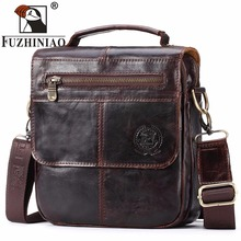 FUZHINIAO Top Sell Fashion Classic Solid Famous Brand Business Men Briefcase Genuine Leather Office Bag Casual Man Shoulder Bags(China)