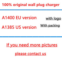 100% Genuine Original Quality A1400 EU US Plug USB AC Power Charger Wall Adapter for iphone 4 5 5s 6 6s 7 plus With packaging