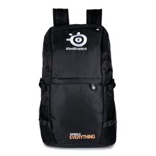 Steelseries Keyboard Backpack Black Nylon Multi function Zipper Headset Mouse Mousepad Bag 34*54*18cm