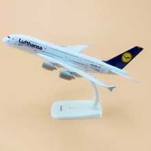 Alloy Metal Air Germany Lufthansa A380 Airlines Airplane Model Lufthansa Airbus 380 Airways Plane Model Aircraft Kids Gifts 20cm(China)