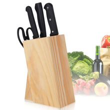 Pine Material Environmental Health Wood Knife Rack   Creative Kitchen Supplies  Knife Holder   Base Do Not Store Water