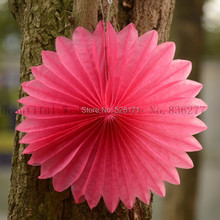 "20pcs 8"" 20cm Colorful Decorative Foldable Tissue Paper Fan Flower Craft Wedding Garland New Year Party Xmas Hanging Decoration"