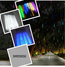 50cm SMD5050 220V 48leds/tube LED snow fall,LED christmas light, waterproof raining tube, led meteor tube free shipping