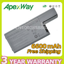 Apexway 9 cells 6600mah Li-ion Replacement Laptop Battery For Dell Latitude D820 D531 D531N D830 Precision M4300 M65 310-9122