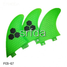 New design surfing fins/ G7 L size surfboard fins with fiberglass honey comb material(Tri-set)(China)