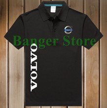 Free Shipping New Brand Summer women and men's VOLVO car logo Polo Shirt Short-sleeved Fashion Casual Shirt