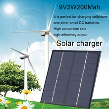 Professional 9V 2W 200Mah Solar Panel Module System Solar Energy Power Charger For Battery Mobile Phone Charger(China)