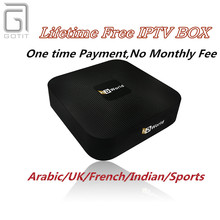 Lifetime Free IPTV HD World A-TV Android TV box Europe Arabic India UK French IPTV 1000+ PayTV Channels Free Eternally IPTV box