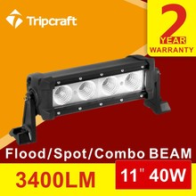 11INCH 40W LED LIGHT BAR OFFROAD SPOT FLOOD COMBO WORK LED LIGHT OFFROAD TRACTOR ATV 4x4 SUV FACTORY FOG LIGHT