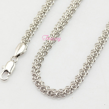5mm White Gold Neck Chain Cable Style White Gold Filled Necklace Wholesale Men/Women Jewellery