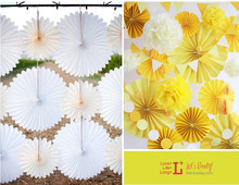 10pcs/lot Free Shipping 12inch(30cm) Holiday Supplies Paper Fan Crafts Wedding Party Home Decoration Paper Fan Flower