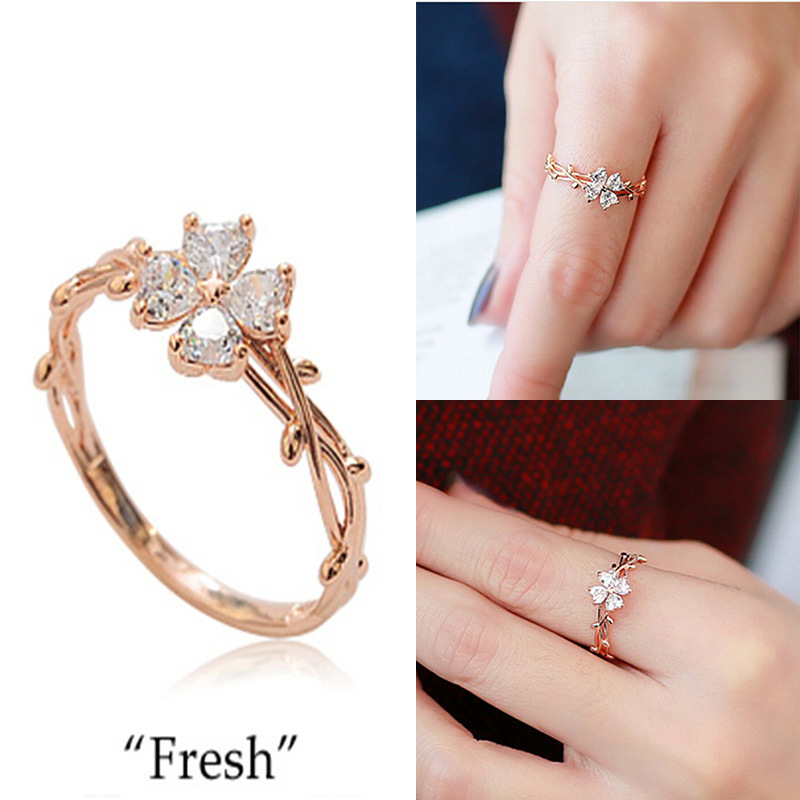 Buy rings with clover leaf and get free shipping on AliExpresscom