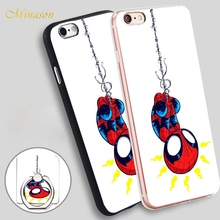 Minason HOP Amazing Spider Man Mobile Phone Shell Soft TPU Silicone Case Cover for iPhone X 8 5 SE 5S 6 6S 7 Plus(China)