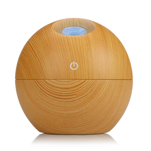 USB Aroma Essential Oil Diffuser Ultrasonic Mist Humidifier Air Purifier 7 Color Change LED Night light for Office Home 130ml(China)