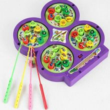 Hot Sale Child Kid Educational Toy Electric Rotating Magnetic Magnet Fish Go Fishing Game For Kids(China)