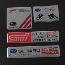 Metal Car Styling STI Sticker Car Door Tail Decal STI Emblem Badge for SUBARU LEGACY Forester Outback Rally WRX WRC XV Impreza