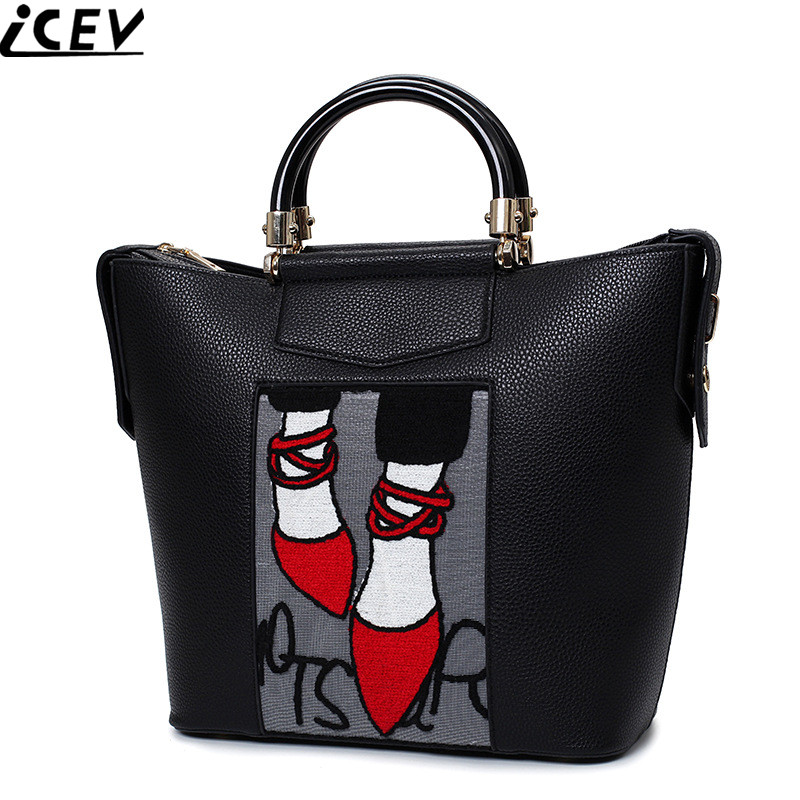 2017 winter new arrive designer high quality women leather bags OL fashion big casual tote bags handbags women famous brands sac<br>