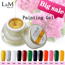 3 Pcs Lvmay Gel Paint for Nails Soak Off Artist Painting Color Acrylic Kit Professional Nail Polish DIY Draw UV Curing Ink Jars