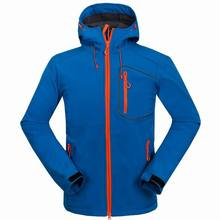 Men fall and winter outdoor sports clothing windproof waterproof breathable soft shell ski jacket mountaineering camping
