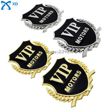 Car Styling VIP Motors Logo 3D Car Alloy rear decorate badge Emblem Side Stickers For BMW Ford Toyota Chevrolet Audi Benz VW KIA