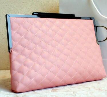 2015 New Women Casual Clutch Envelope Messenger Bags Top Quality Leather Lattice Famous Brand Design Handbag Chain Shoulder Bags<br><br>Aliexpress