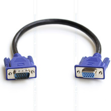Standard Edition VGA Cable 15pin Male to Female cable HD15Pin VGA D-Sub Short Video Extend Cable Cord RGB Cable for Monitor 30cm