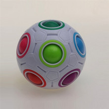 Best seller drop shipping Pop Rainbow Magic Ball Plastic Cube Twist Puzzle Toys For Teenagers Adult Stress Reliev S15