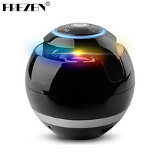 FREZEN Portable Mini Bluetooth Speaker Ball Wireless Column Handfree TF FM Radio With Mic MP3 Globe Audio Music For Phone PC