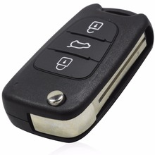 New 3 Buttons Flip Remote Key Shell For Hyundai I30 IX35 Folding Remote Key Case With LOGO