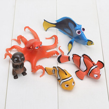 5pcs/lot Finding Cartoon Mini Finding Nemo Clownfish Marlin Octopus Action Figure Toy