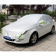 Customizable! Universal Aluminum Waterproof Seamless Sunshade Car Cover Half Covers Protection for Saloon, Hatchback, SUV(China)