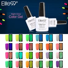 Elite99 1pc UV Gel Night Glow In Dark Lacquer Varnishes Soak-off UV LED Nail Gel Fluorescent Neon Luminous Colors Nail Polish(China)