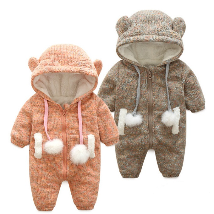 2017 Baby Warm Thick Winter Knitted Sweater Rompers Newborn Boys Girls Jumpsuit Climbing Clothes Christmas Deer Hooded Outwear<br><br>Aliexpress