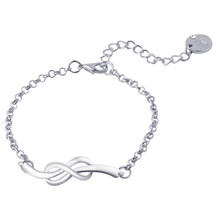 Simple Lucky 8 Infinity Symbol Bracelets Bangles bijoux pulseras Fashion Handmade Gift Bracelets Women Jewelry Wholesale(China)