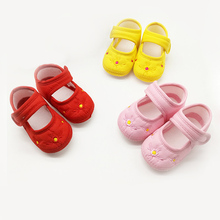 Cute Embroidering baby shoes hook&loop Newborn Kids Infant Toddler Shoes Baby Girls boy Soft Soled First Walkers Toddler Shoes