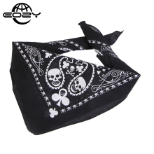 Fashion Cotton Skull Scarf Classic Print Headband Unisex Boy Girl Collar Scarf Size 55*55CM Black/White Hip Hop Headband