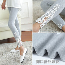 New Fashion Womens Lace Crochet Sexy Skinny Leggings Stretch Jeggings Pants Hot Sales