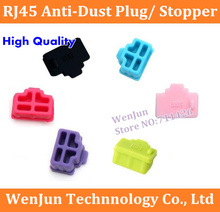 50PCS Multicolor Silicon RJ45 dust plug for laptop/computer/Router RJ45 connector High Quality