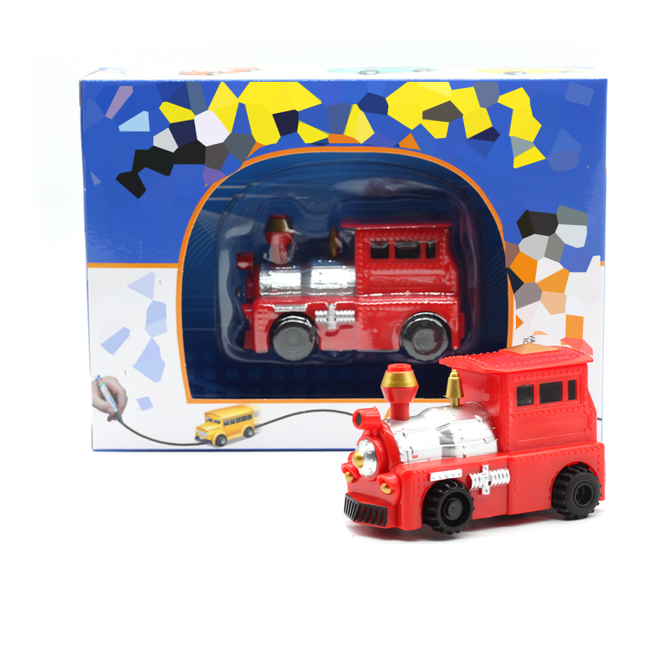 New Free Delivery Magic Pen Inductive Car Truck Follow Any Drawn Black Line Track Mini Toy Engineering Vehicles Educational Toy 3