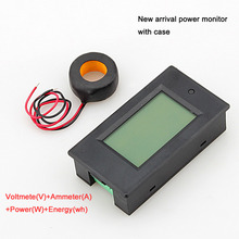 1PC AC 100A Power Meter Monitor Voltage current kWh Watt Digital LED Tester with case + CT