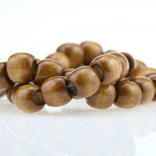 2016 New!12x11mm Natural Wooden Bead Big Hole Spacer Beads (100/lot) Male Female DIY Fashion Charm Beaded jewelry making(China)
