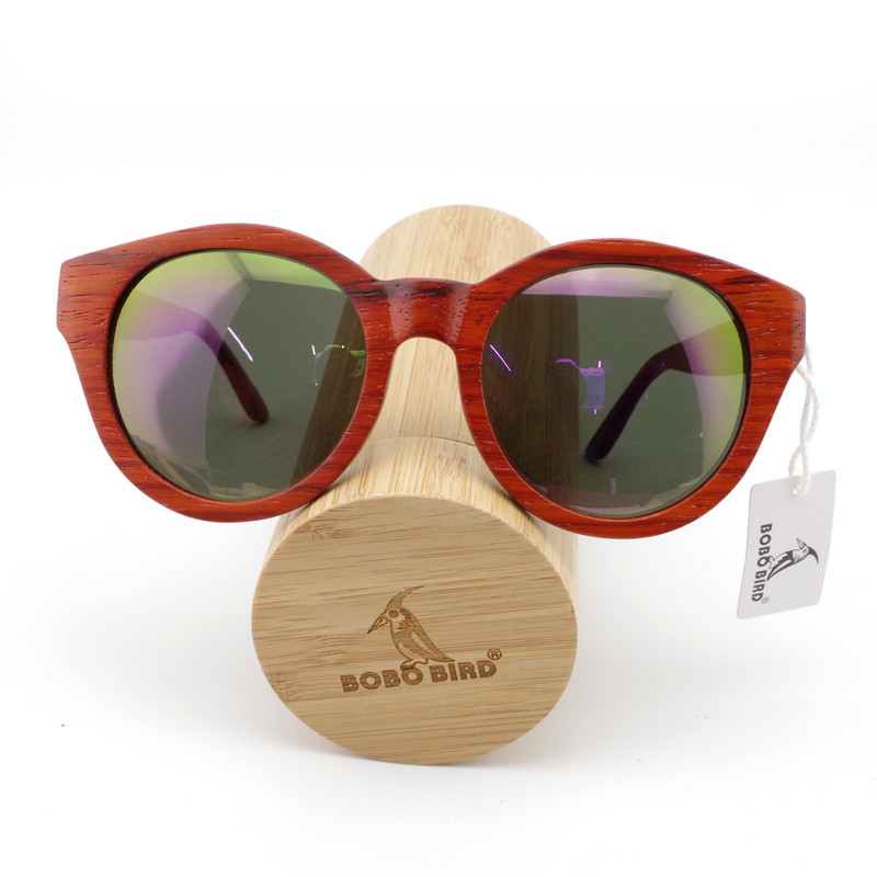 BOBO BIRD New Womens Sunglasses Red Wood Cat Eye Wood Oversized Sunglasses Wooden Sun glasses for Ladies With Bamboo Box 2017<br><br>Aliexpress
