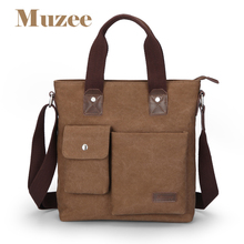 Muzee fashion Business casual men's bags handbag Canvas Totes Multi-function bag ME_0466