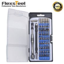 Flexsteel Top Quality 54 Bit Driver Kit 57 In 1 Precision Screwdriver Set with Security Torx for Laptops, Phones, Game Consoles