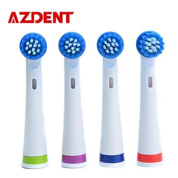 4 Unids/pack AZDENT AZ-OC2 Juego Para Los Mejores Venta de Cepillo de Dientes cepillo de Dientes Eléctrico Cepillos de Dientes Higiene Oral Cabeza del cepillo