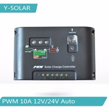 PWM 10A Solar Charger Controller 12V 24V Solar Panel Battery Charge Regulator with Light and 15hours Timer Control  10I-EC