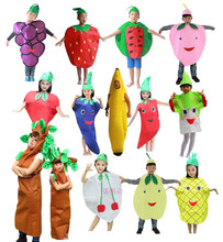 Children Kids Halloween Party Children's Day Cartoon Fruit Vegetable Costume Cosplay Clothes Pumpkin Banana Tree for Boy Girl(China)